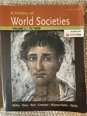 A history of world societies for Sale in San Luis Obispo, CA