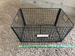 Grey/Black Metal Basket - 10x16 for Sale in Burien, WA