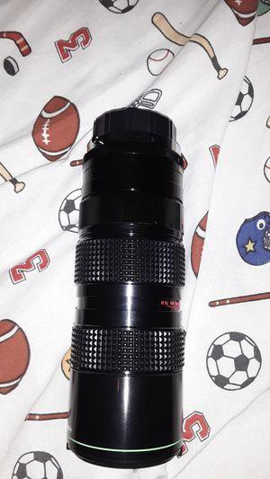 Vintage Camera Lens Zoom. Hanimex 75-300 mm macro lens, an M42 (screw mount for Sale in TEMPLE TERR, FL