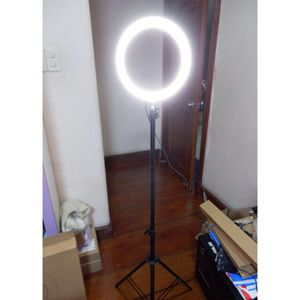 New in box 10 inches Ring LED Light Warm and Cold 3000 to 6500K USB with Adjustable Tripod 59 inches tall and Controller Video Maker Phone Camera Hol for Sale in Whittier, CA
