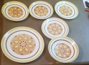 Taylor Ironstone Yellow Star plate bowl salad plate for Sale in Three Rivers, MI