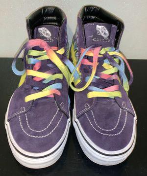 Vans Classic Purple Suede Tie Dye Skate SK8-hi-top Shoes Women's 10 Men's 9 for Sale in Bloomington, MN