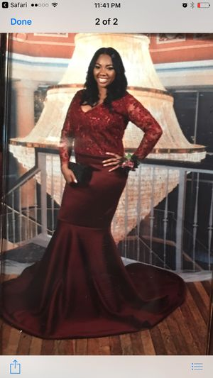 Burgundy Custom made prom dress for 400$. for Sale in Baltimore, MD