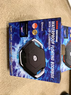 Wave Rider ION Audio Waterproof Floating Boombox with LED Illumination for Sale in Melrose, MA