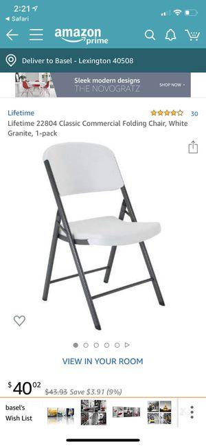 Lifetime products commercial folding chair. Original $40-60 for Sale in Lexington, KY