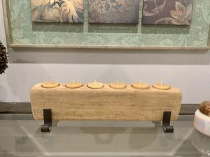 Decorative Wood Candle/Flower Holder Home Decor for Sale in Des Plaines, IL