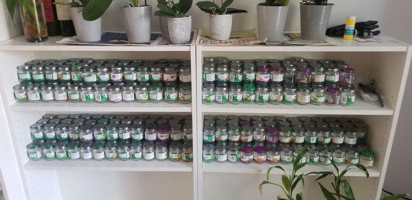 Over 300 empty jars