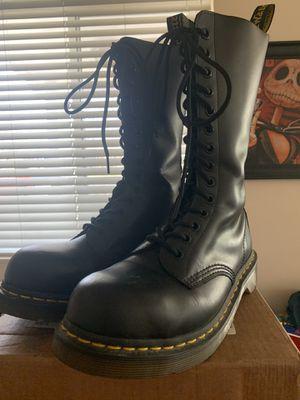 STEEL TOE 14 Eye DOC MARTEN BOOTS - Men's Size 7, Women's Size 8 for Sale in Murray, UT