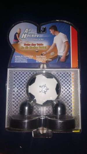 Air hover hockey, floats on cushion of air, make any table a air hockey table brand new sealed in package for Sale in Pompano Beach, FL