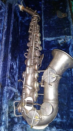 King Soprano Sax // H.N. White & Co. // 1918 'low pitch' // antique silver unrefurbished for Sale in Encinitas, CA