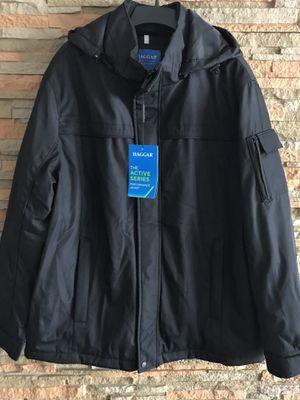 NEW - Haggar Black Parka Warm Winter Jacket Hood Size XL for Sale in Aventura, FL