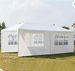 (NEW) Outdoor Canopy, Party Wedding Tent, Sunshade, Gazebo Pavilion Removable Sidewalls Thicken Steel Tube (10' x 20' Removable Sidewalls White) for Sale in Phoenix, AZ