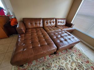 Genunie leather sectional sofa for Sale in Bay Lake, FL