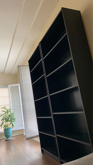 Two Black Bookshelves for Sale in Beverly Hills, CA
