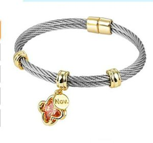 BIJOUX BOBBI [Luxury Packaging Premier Birthstones Beautiful Twisted Cable Bangles for Sale in Rancho Cucamonga, CA