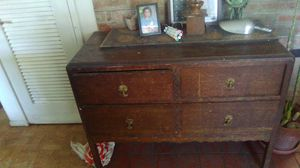 Antique Dresser with caster wheels for Sale in Sunnyvale, CA