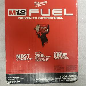 "Milwaukee M12 Fuel 1/2"" Stubby Impact Wrench Driver ***$150 FIRM*** for Sale in Phoenix, AZ"