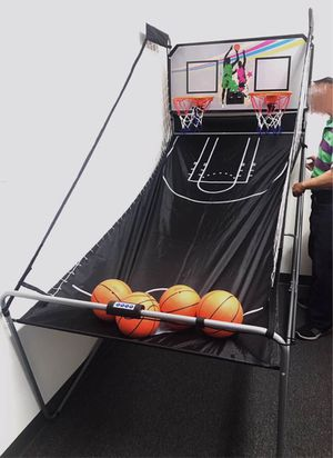 New in box Indoor Double Electronic Basketball arcade style Game with 4 Balls 80x42x81 inches for Sale in West Covina, CA