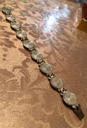 Bracelet Silver 9.25 Aztec Calendar for Sale in Long Beach, CA