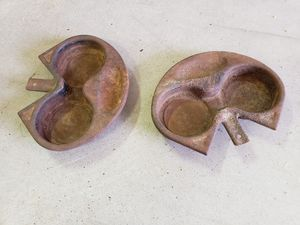 2 Vintage Gaming Table Metal Add On Cup Holders for Sale in Buckeye, AZ