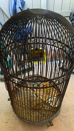Wrought iron bird cage 3ft tall for Sale in Chula Vista, CA