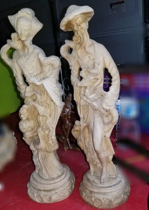 Hand Carved Chinese Couple for Sale in Gilbert, AZ