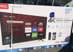 "55"" TCL 4k uhd hdr roku smart led Tv for Sale in Yorba Linda, CA"