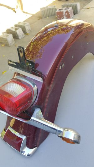 Motorcycle rear fender with light for Sale in Downey, CA