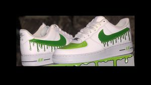 Slime Green Shoes Nike AF1 perfect Christmas Gift for Him all sizes available for Sale in Glendale, CA