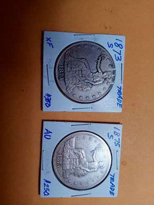 1873S & 1875S TRADE DOLLAR for Sale in Portland, OR