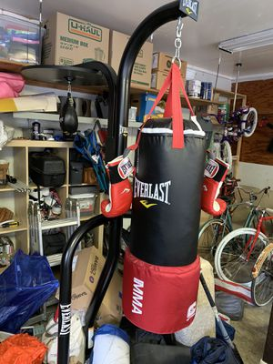 Everlast Heavy Bag + Bag Stand + Speed Bag for Sale in Seattle, WA