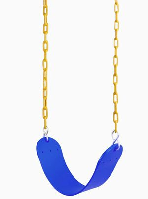 "Swing Seat Heavy Duty with 66"" Chain Plastic Coated, Swing Set Accessories Swing Seat Replacement, 250 LB Weight Limit (Blue) for Sale in La Habra Heights, CA"