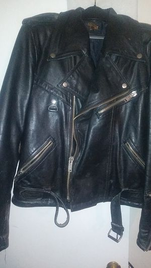 Superior leather jacket size 44 old for Sale in Highland Springs, VA