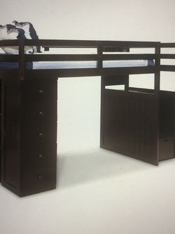 Twin Loft Bed - Bookcase & Storage OBO for Sale in Brooklyn,  NY