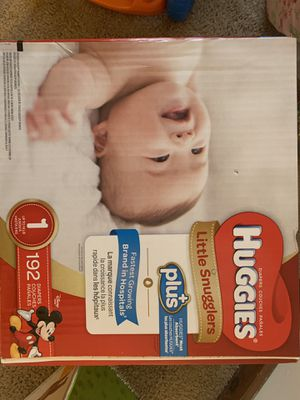Huggies size 1 diapers , little snugglers. 192 diapers for Sale in Ellington, CT