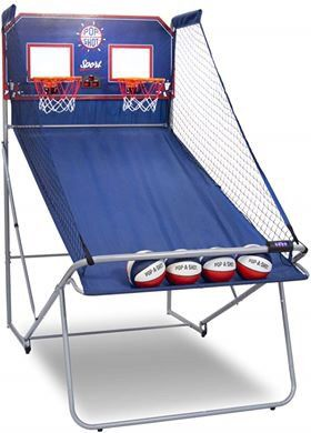 Dual Shot Sport Kids Children Basketball Arcade Shootout Game Scoreboard Portable Fold Up Indoor for Sale in Toledo, OH