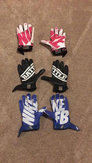 Nike football gloves lot for Sale in Manassas, VA