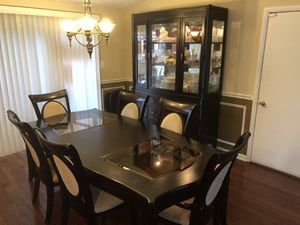 Dining room table and China cabinet set for Sale in Annandale, VA