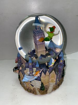 DISNEY Peter Pan 50 Years Of Adventure Music Box Snow Globe for Sale in Fremont, CA