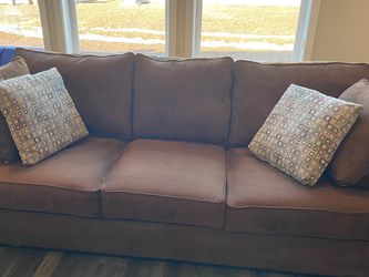 Dark Brown Microfiber Sofa for Sale in Bonney Lake,  WA
