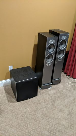 Polk audio subwoofer and towers for Sale in Riverside, CA