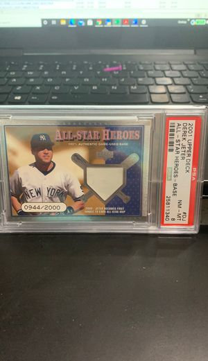 Rare Derek Jeter game used PSA baseball card for Sale in West Valley City, UT