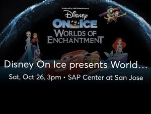 110$ 4tickets Disney on Ice. LOWER SECTION for Sale in Concord, CA