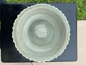 Song dynasty celedon antique bowl with lotus for Sale in Sebastian, FL