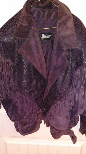 Real leather jacket( smell that real leather ) for Sale in Ocklawaha, FL