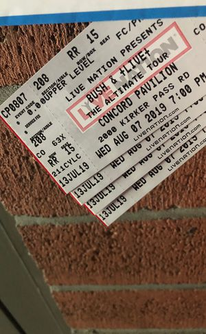 Tickets for Bush Live- Aisle Seats for Sale in Clayton, CA