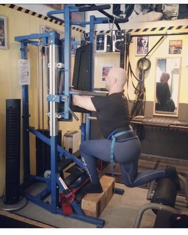 Nautilus Omni Multi Exercise Pull Up Dip Squat Calf Machine
