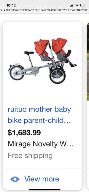 Baby and bike , children seat with bike . 2 babies with adult for Sale in Los Angeles, CA