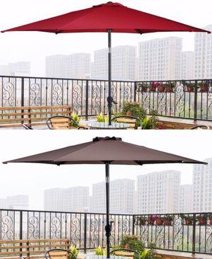 New in box large 10 feet diameter tilt adjustable crank open outdoor patio umbrella waterproof sun shade canopy paraguas for Sale in Los Angeles, CA