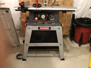 "Craftsman 10"" table saw with leg set. for Sale in Jamesburg, NJ"